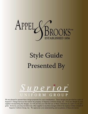 Appel Brooks Booklet
