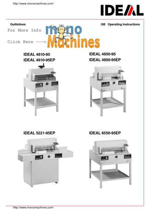 calam o triumph 4850 automatic stack paper cutter manual rh calameo com 6550 Power Transformer 6550 Power Transformer