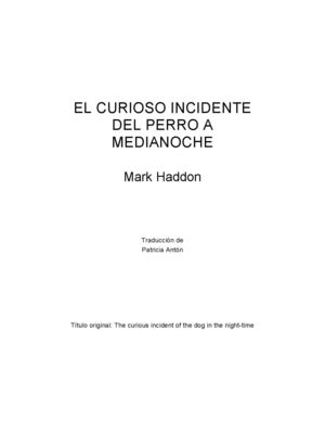 El curioso incidente......