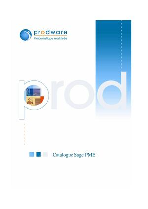 Catalogue PME