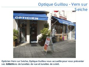 Opticien Vern sur seiche - Optique Guillou