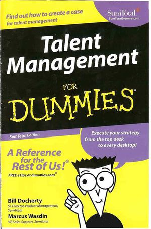 Talent Management for Dummies (Wiley)