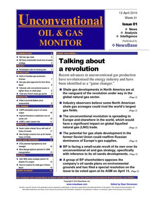 Unconventional Oil & Gas Monitor launch issue