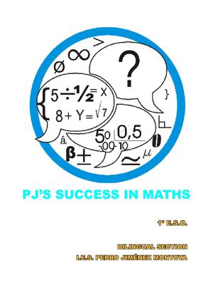 PJ'S SUCCESS IN MATHS 1º ESO