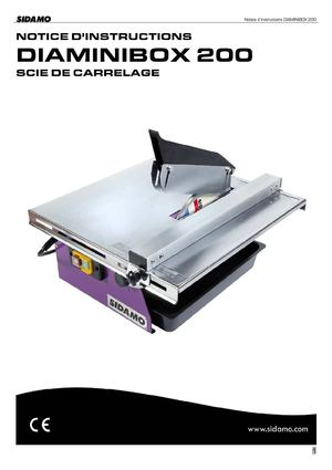 Scie de carrelage SIDAMO DIAMINIBOX 200