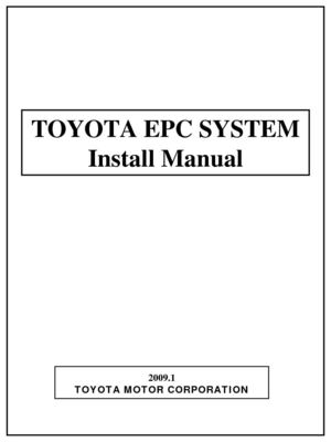Toyota EPC3 Install Manual