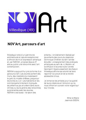 catalogue NOV'Art 2009