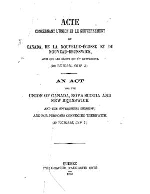 British North America Act, 1867 - Bilingual with Indexes (as published by Dominion of Canada in 1868)