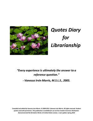 Quotes Diary for Librarianship