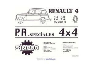 Documentation Renault R4 Sinpar
