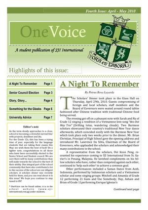 One Voice - Issue 04 - May 2010