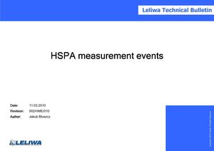 HSPA measurement events