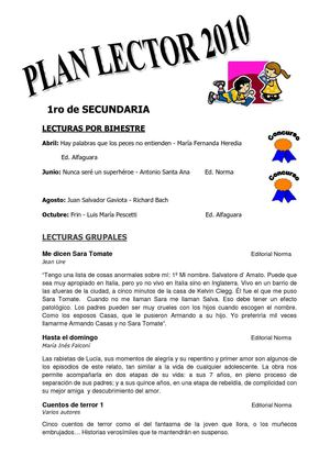 Plan Lector 2010