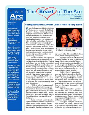 The Heart of The Arc - A Newsletter For and About Employees of The Arc of Atlantic County