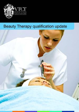 VTCT Beauty qualification update