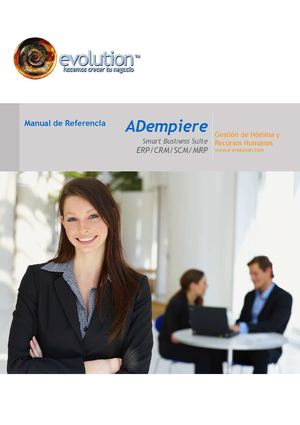 ADempiere Human Resource & Payroll Reference Guide (Spanish)