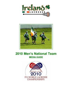 2010 Ireland Men's National Lacrosse Team Media Guide
