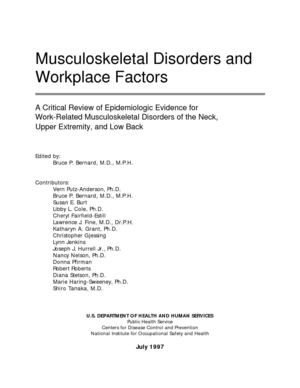 NIOSH_Musculoskeletal Disorders and Workplace