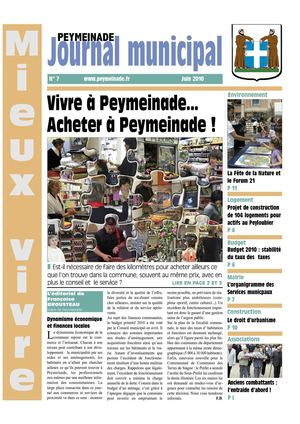Journal Municipal de Peymeinade - Juin 2010