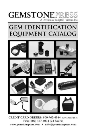 Gem Identification Equipment Catalog