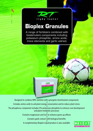 Bioplex - a range of fertilizers combined with biostimulant components