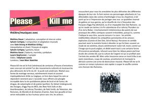 Please kill me - Dossier de presse