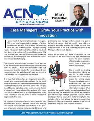 ACN - CASE MANAGERS GROW PRACTICE