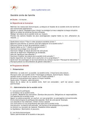 Calameo Formations Societe Civile Sci