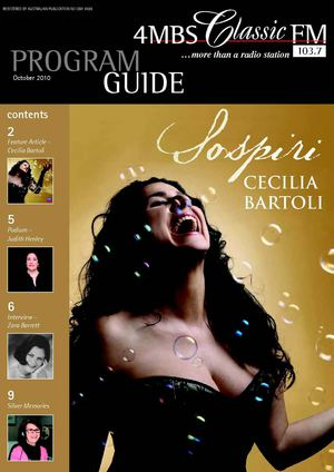 4MBS Classic FM October 2010 Program Guide