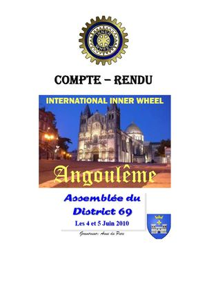 Compte rendu AD Inner Wheel District 69 France