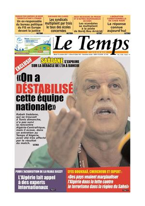 Le Temps d'Algerie Edition du 12 octobre 2010