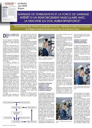 Gainage de force et Gainage de stabilisation , interet d\'un renforcement musculaire avec la machine Huber