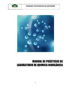 Calaméo - MANUAL DE PRÁCTICAS DE LABORATORIO DE QUÍMICA INORGÁNICA