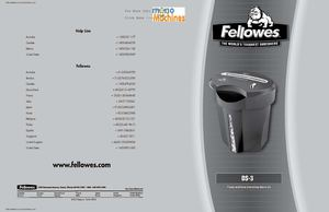 Fellowes DS-3 Cross Cut Shredder Manual