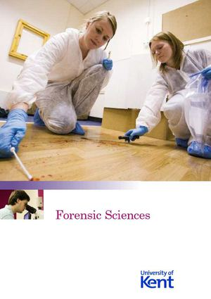 Forensic Science at University of Kent