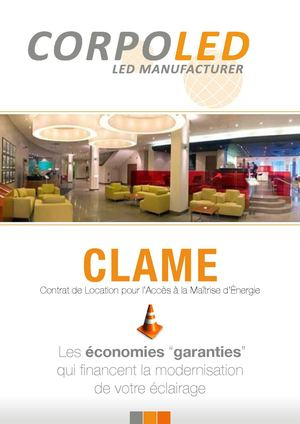 CLAME Corpo Led PLaquette 01