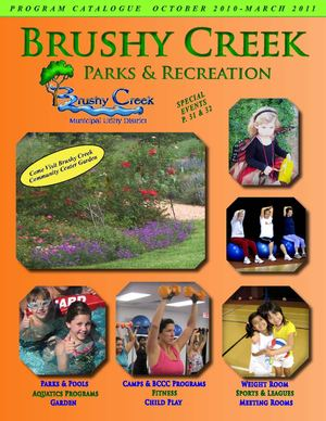 Brushy Creek Municipal Utility District Program Catalogue October 2010 - March 2011
