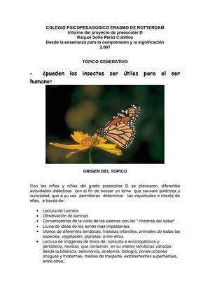 Calaméo - los insectos proyecto de aula Raquel Sofia Perez