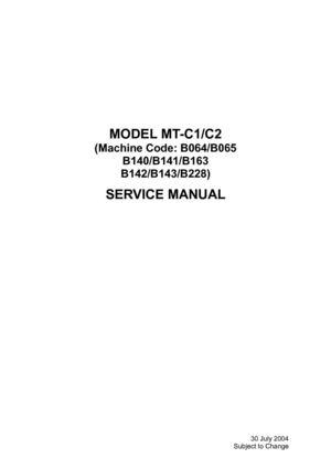 Calaméo - Ricoh 1060 Aficio 2075 Parts & Services