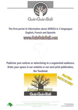 Discover GuinGuinBali the first website of information about Africa in 3 languages and its printed publications as Yearbook AFRICAen2010