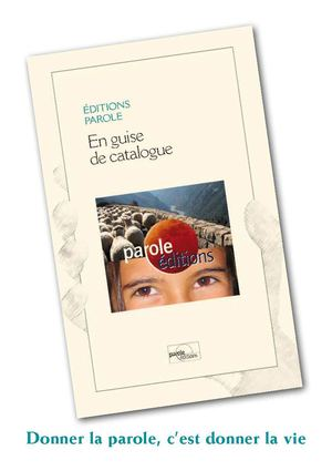Catalogue des éditions Parole