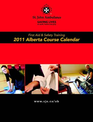 St John 2011 First Aid & CPR Course Schedule