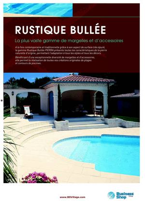 Bordi Piscine PIERRA serie: RUSTIQUE BULLET