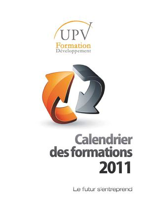 Calendrier des formations UPVFD 2011