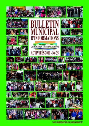 Bulletin municipal Dommartin-les-Remiremont No 35