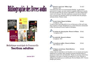 Livre audio adultes