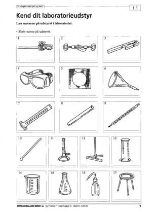 fysik kemi udstyr