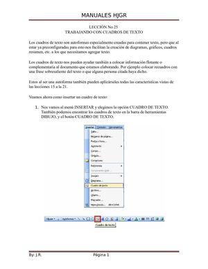 Calameo Manual De Word Cuadros Sinopticos
