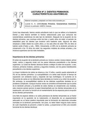 Calaméo - Lectura Nº 3: Dientes primarios. Características anatómicas