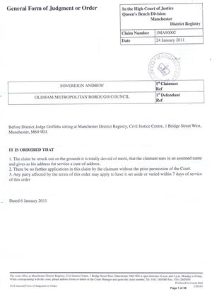 OMBC Water Claim in full